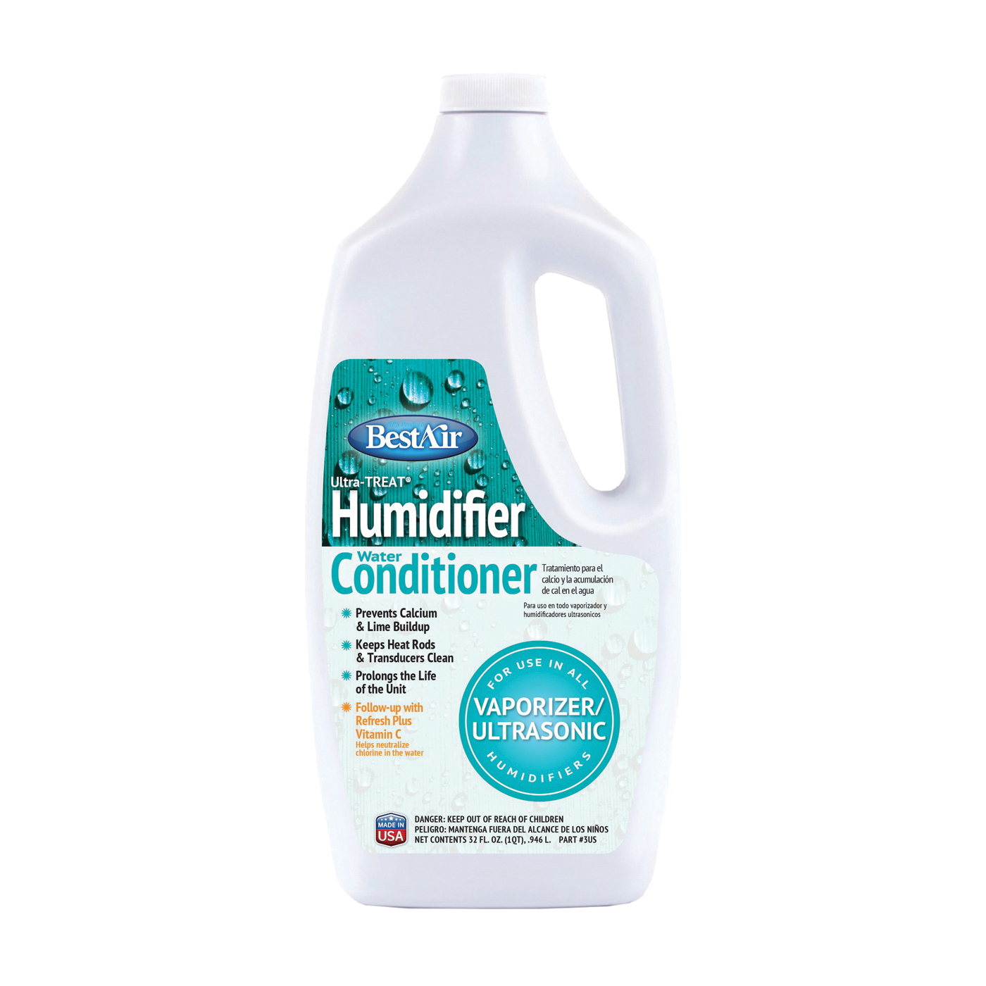 Picture of BestAir 3US Humidifier Water Treatment, 32 oz Package