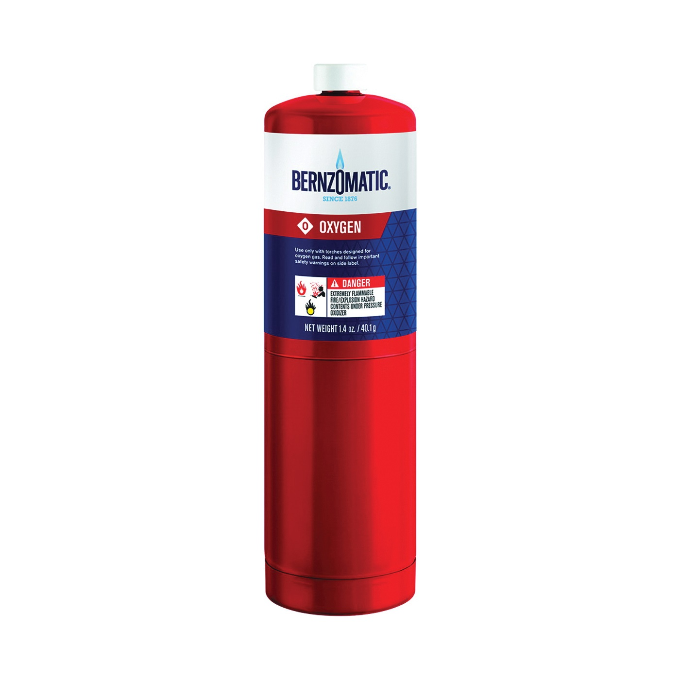 Picture of BernzOmatic 333251 Oxygen Torch Cylinder, Oxygen, 1.4 oz Package