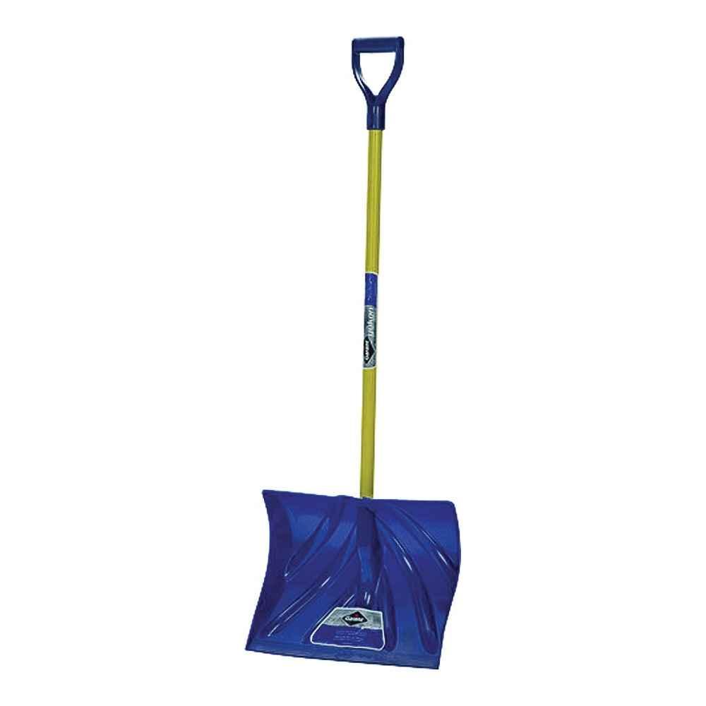 Picture of GARANT YPM18FKDU Snow Shovel, 18 in W Blade, 13-1/2 in L Blade, Polyethylene Blade, Fiberglass Handle, 51 in OAL