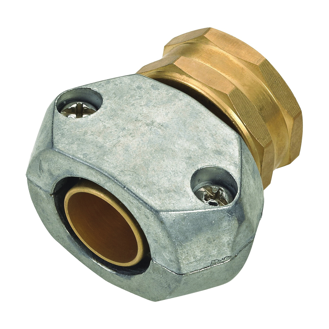 Picture of Landscapers Select GC533 Hose Coupling, 5/8 to 3/4 in, Female, Brass and zinc, Brass and Silver