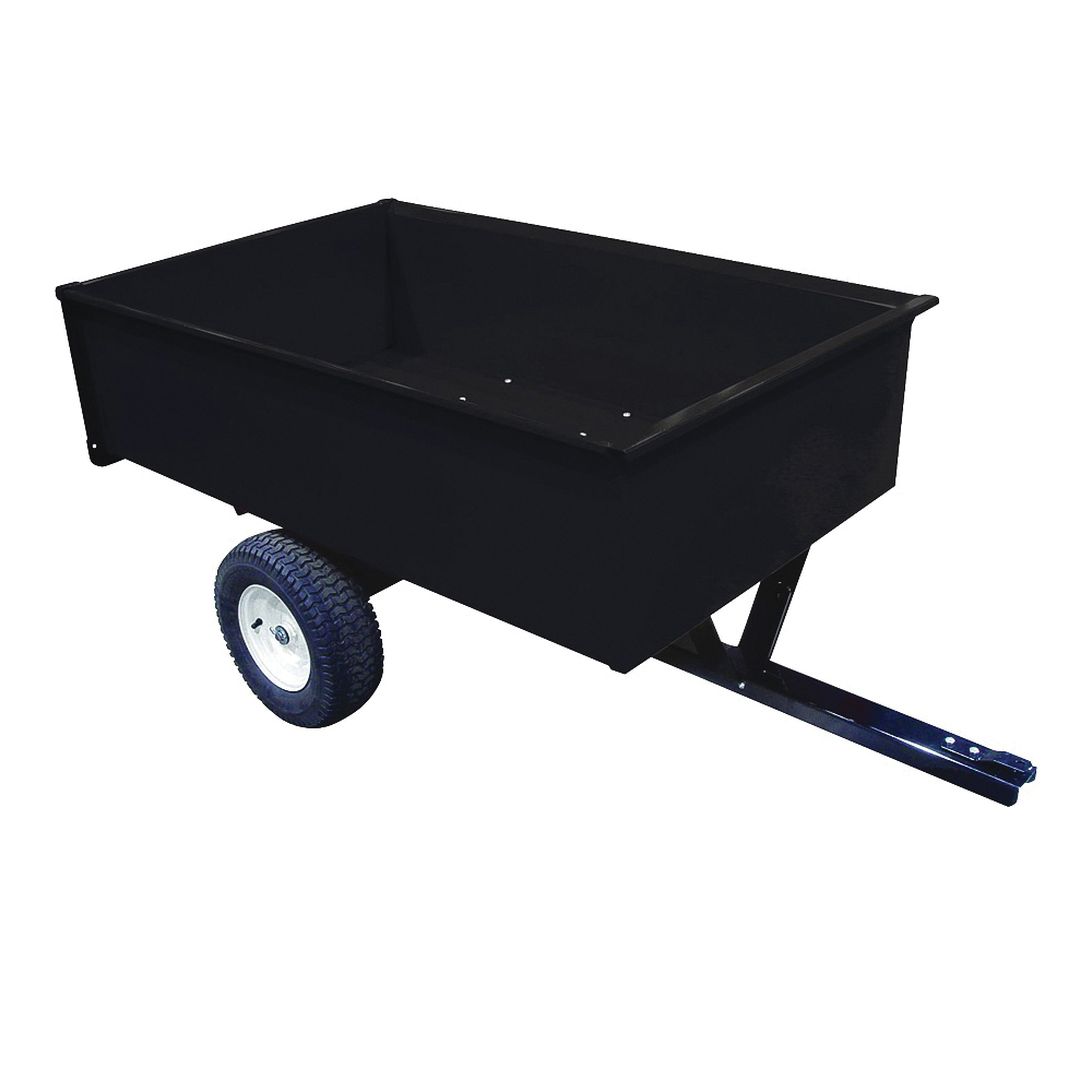 Picture of AG SOUTH SC17-2MC Trailer/Dump Cart, 1500 lb, Steel Deck, 16 in Wheel, Black