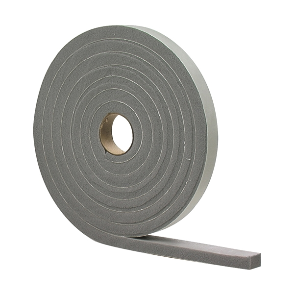 Picture of M-D 02311 Foam Tape, 3/4 in W, 10 ft L, 1/2 in Thick, PVC, Gray