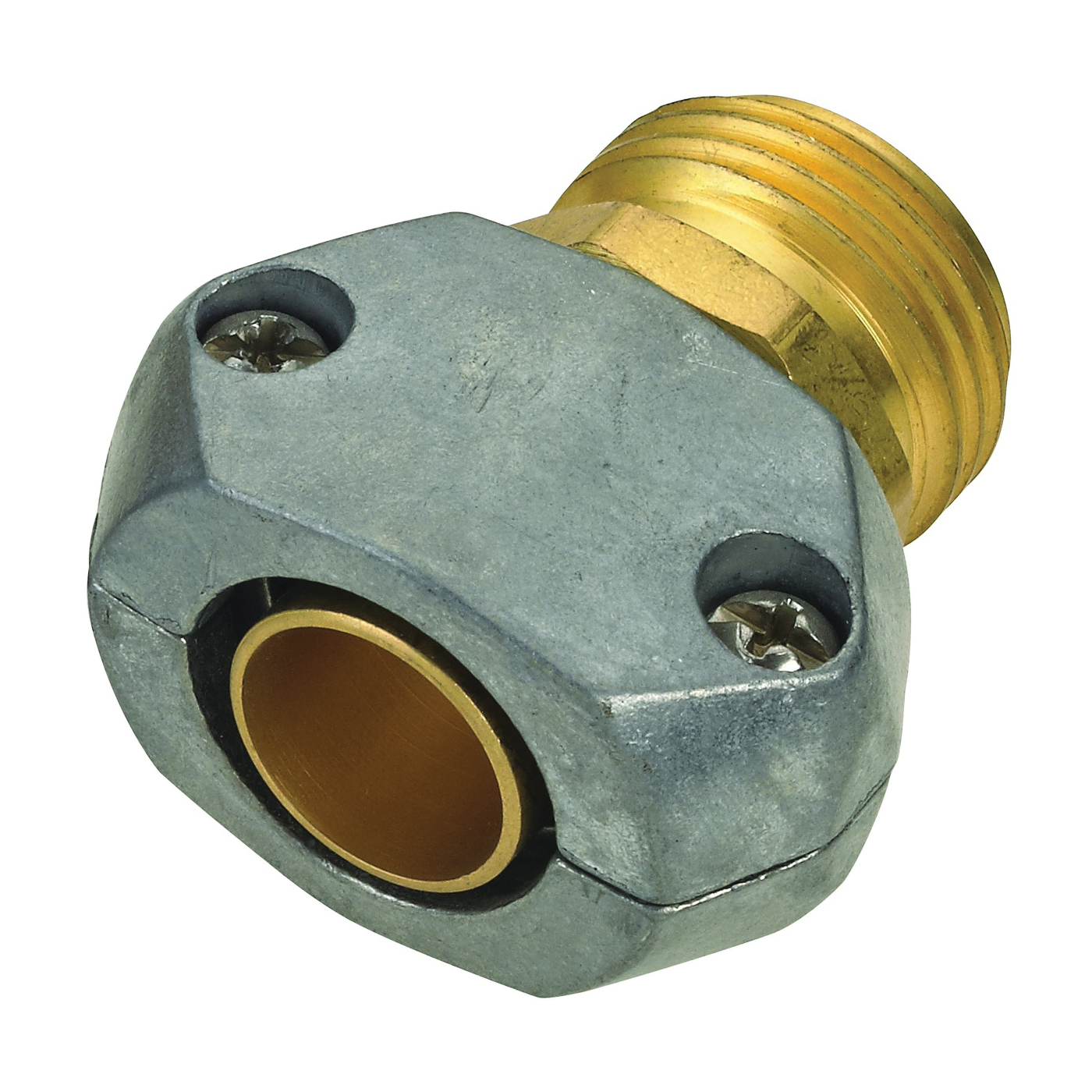 Picture of Landscapers Select GC534 Hose Coupling, 5/8 to 3/4 in, Male, Brass and zinc, Brass and silver
