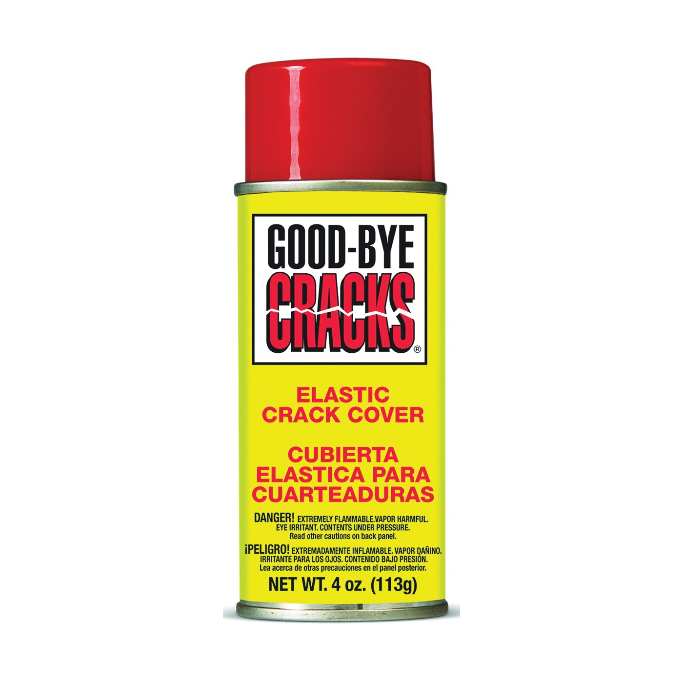 Picture of Goof Off Goodbye Cracks FG695 Crack Cover Spray, Liquid, Opaque/Off White, 4 oz Package, Aerosol Can