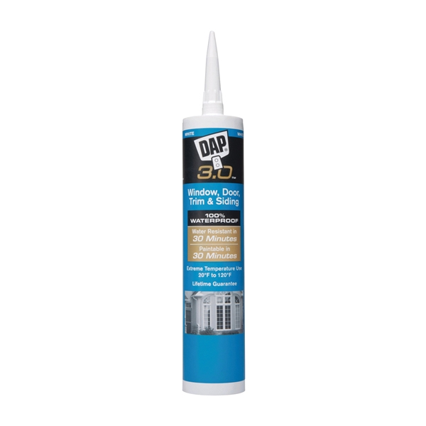Picture of DAP 3.0 18360 Sealant, White, 65 to 190 deg F, 9 oz Package, Tube