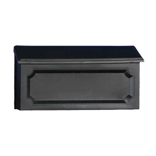 Picture of Gibraltar Mailboxes Windsor WMH00B04 Mailbox, 288.6 cu-in Capacity, Polypropylene, Black, 15-1/2 in W, 4.7 in D
