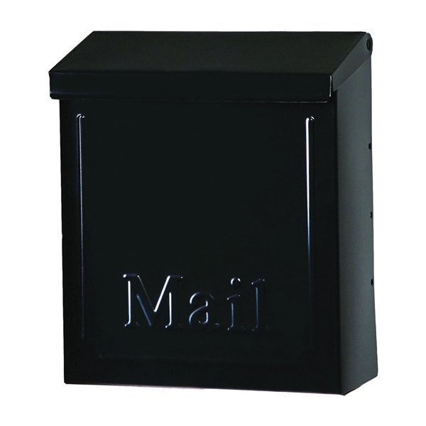 Picture of Gibraltar Mailboxes Townhouse THVKB001 Mailbox, 260 cu-in Capacity, Steel, Powder-Coated, Black, 8.6 in W