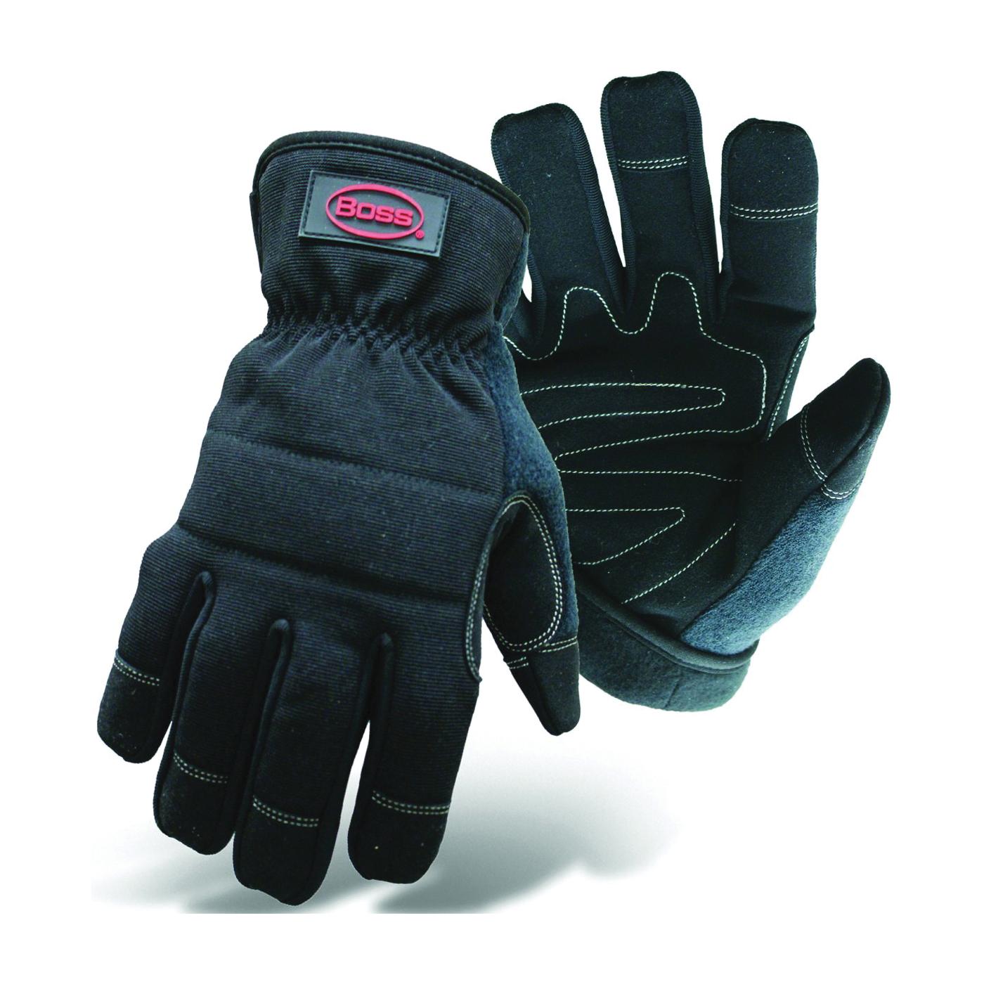 Picture of BOSS 5207L Multi-Purpose Utility Gloves, L, Wing Thumb, Fleece, Black