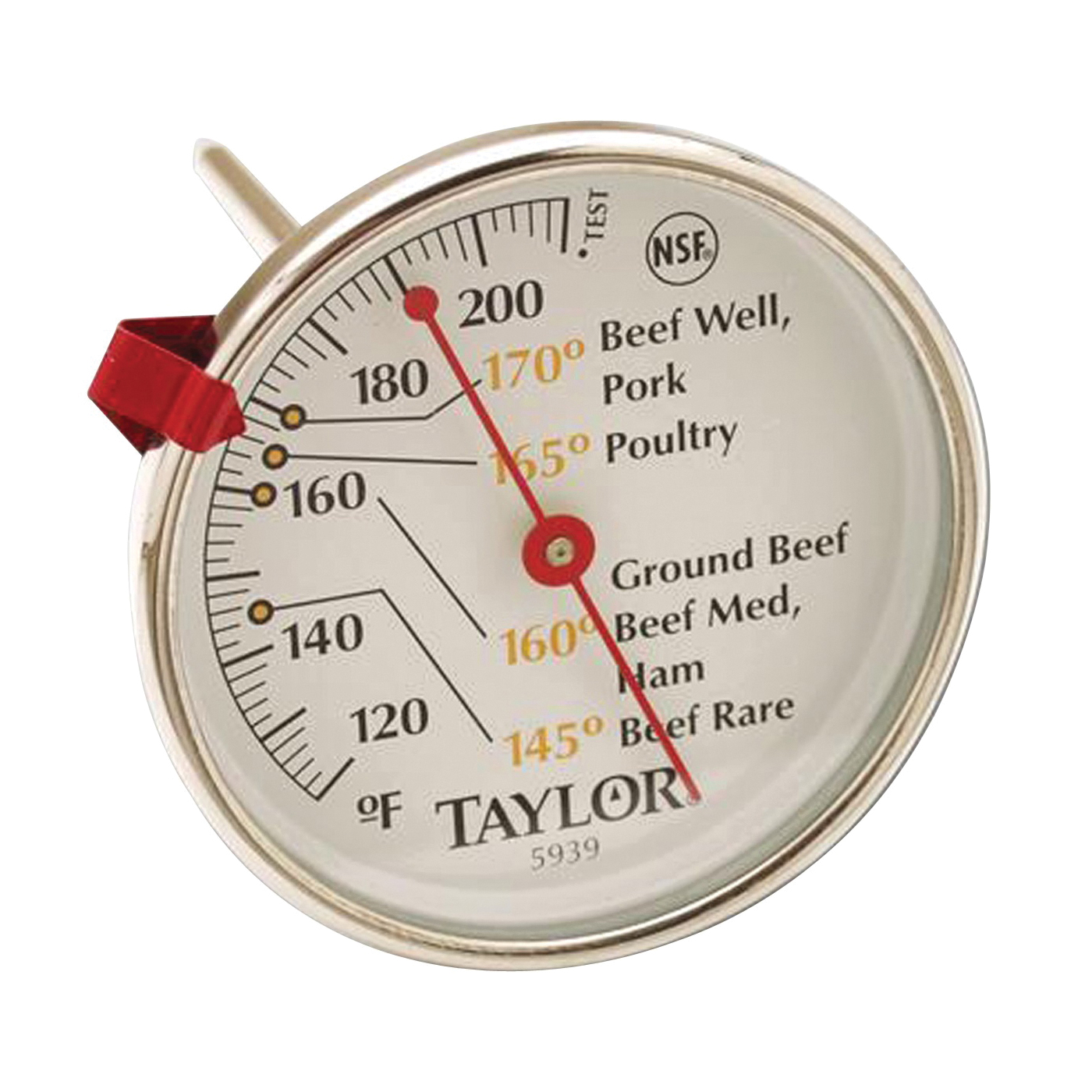 Picture of Taylor 5939N Meat Thermometer, 120 to 212 deg F, Analog Display