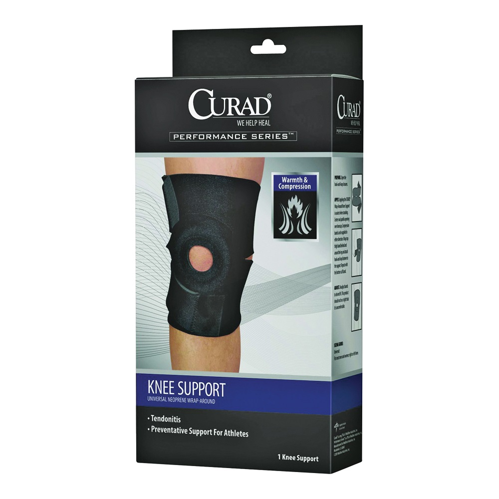 Picture of CURAD ORT23260D Knee Support, 10-1/4 in L, Neoprene Bandage, 4, Case