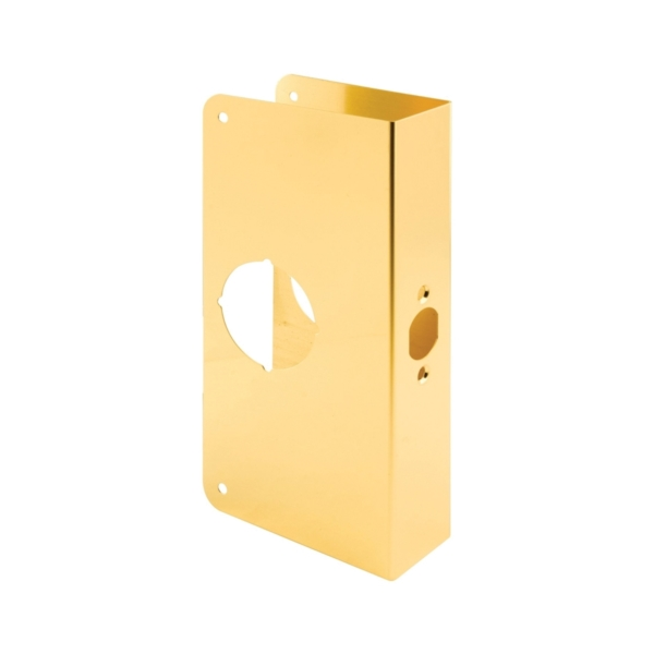 Picture of Prime-Line U 9541 Lock and Door Reinforcer, 2-3/8 in Backset, 1-3/4 in Thick Door, Brass, Brass, 9 in H