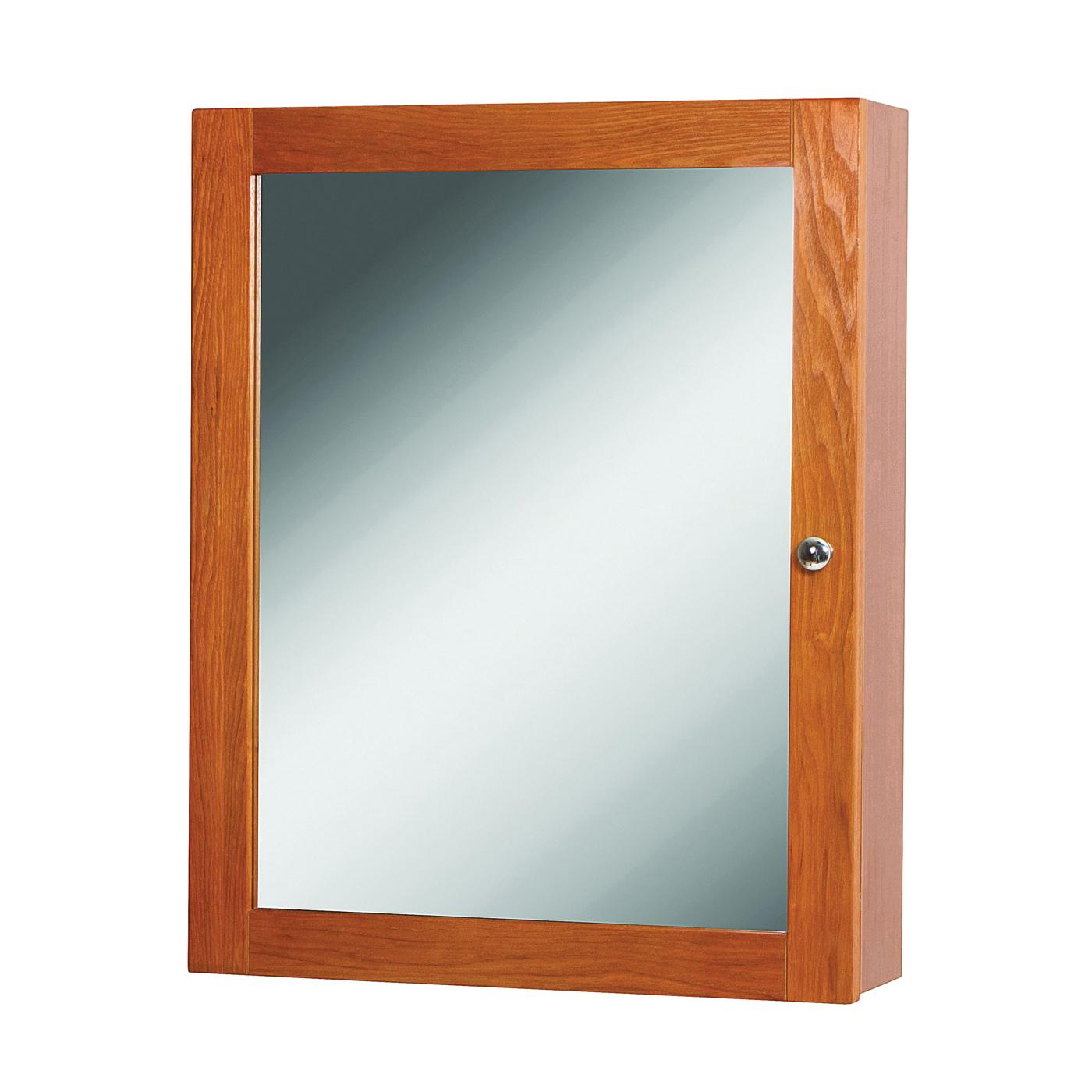 Picture of Foremost Worthington WROC1924 Medicine Cabinet, 19 in OAW, 4-7/8 in OAD, 23-7/8 in OAH, Oak, Chrome, 2-Shelf