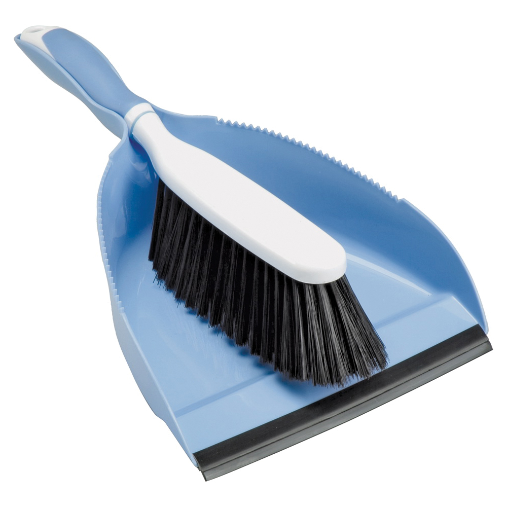 Picture of Simple Spaces YB88213L Hand Broom, Polyethylene-Terephthalate Bristle, Plastic/Rubber Handle