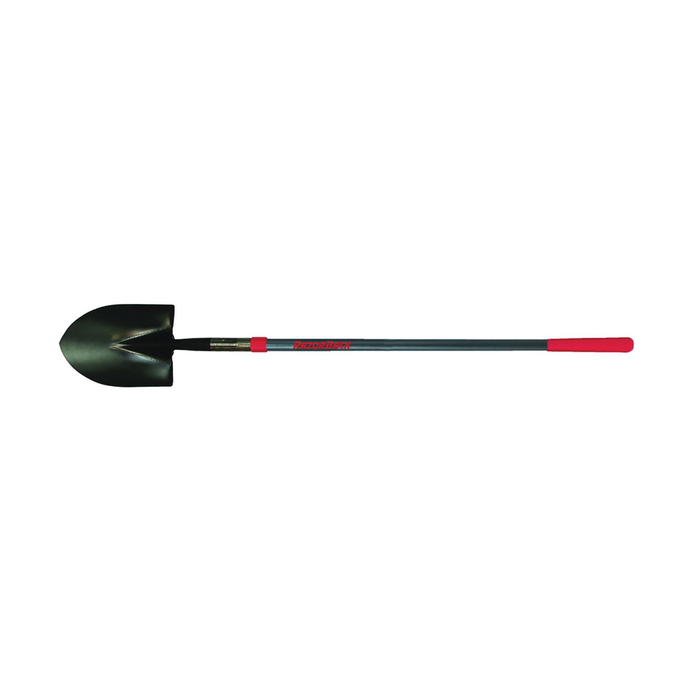 Picture of RAZOR-BACK 45000 Shovel, 8-3/4 in W Blade, Steel Blade, Fiberglass Handle, Long Handle, 48 in L Handle