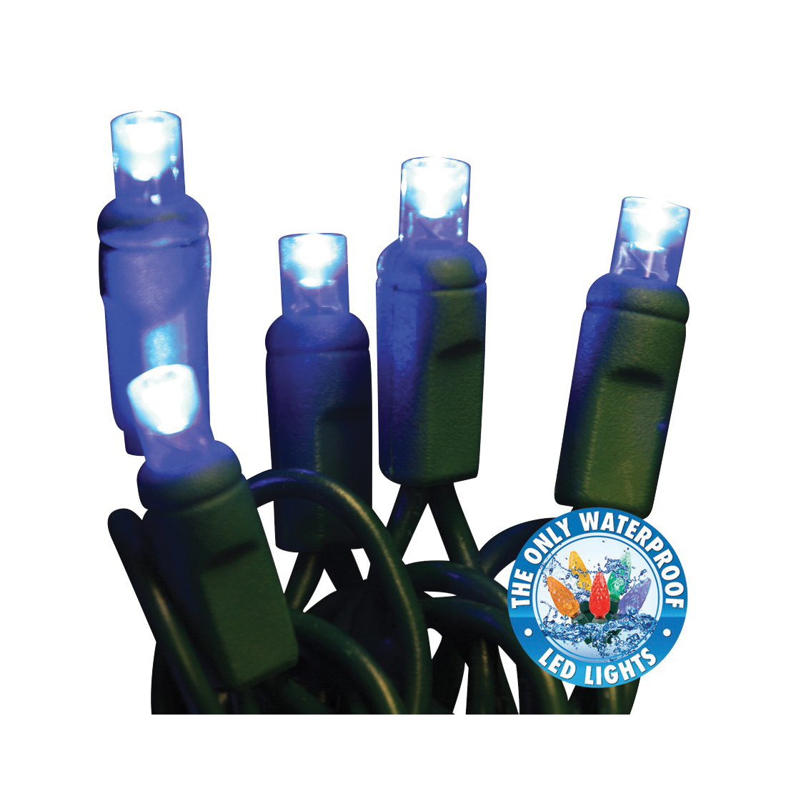 Picture of Holiday Bright Lights LEDBX-WA50-BL6 Light Set, 50 -Lamp, LED Lamp, Blue Lamp, 50000 hr Average Life, 26 ft L