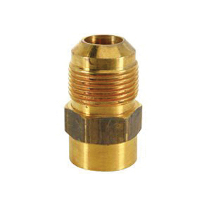 Picture of BrassCraft MAU1-10-12 Female Gas Adapter, 5/8 x 3/4 in, Flare x FIP, 1-25/32 in L