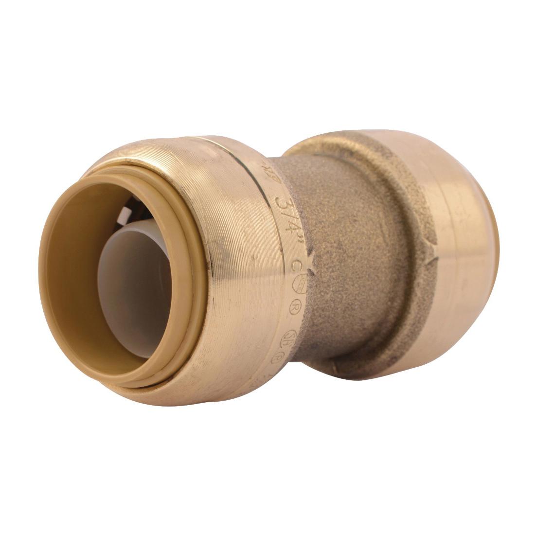 Picture of SharkBite U016LFA Tube Coupler, 3/4 in, Brass, 200 psi Pressure