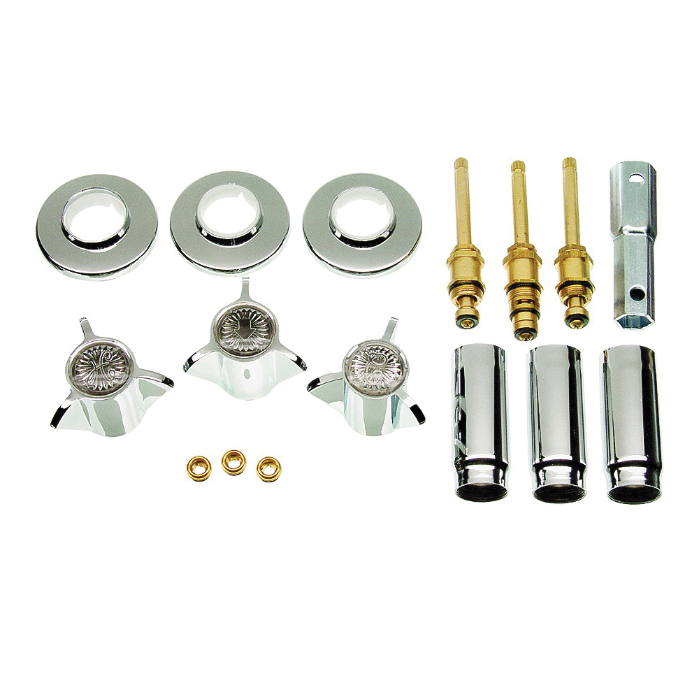 Picture of Danco 39620 Remodeling Trim Kit, Brass, Classic Chrome, For: Sayco Shower Valves