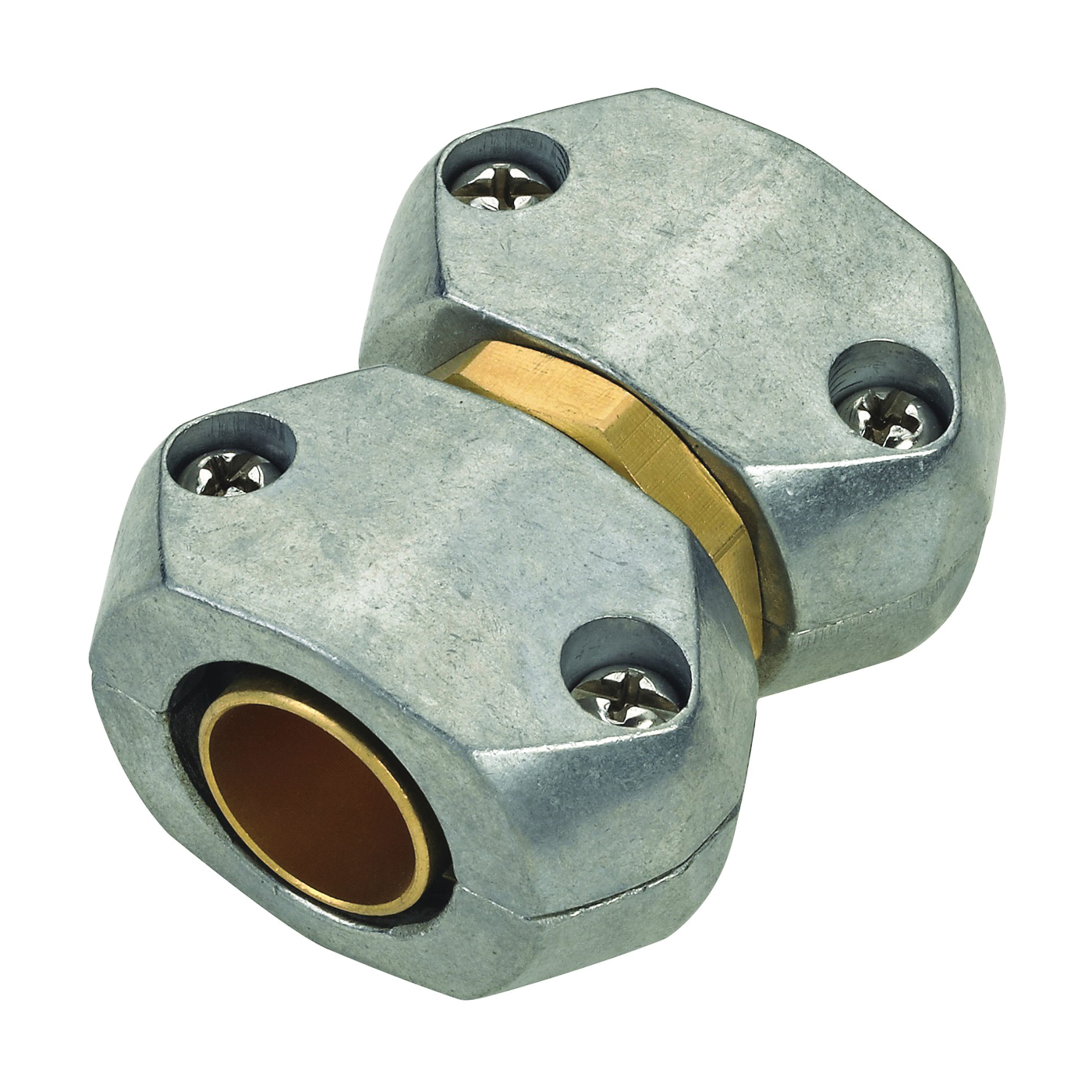 Picture of Landscapers Select GC535 Hose Mender, 5/8 to 3/4 in, Brass and zinc, Brass and Silver