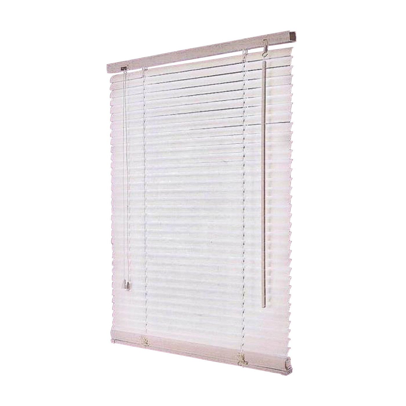 Picture of Simple Spaces FWB-23X72-3L Window Blinds, 72 in L, 23 in W, Faux Wood, White