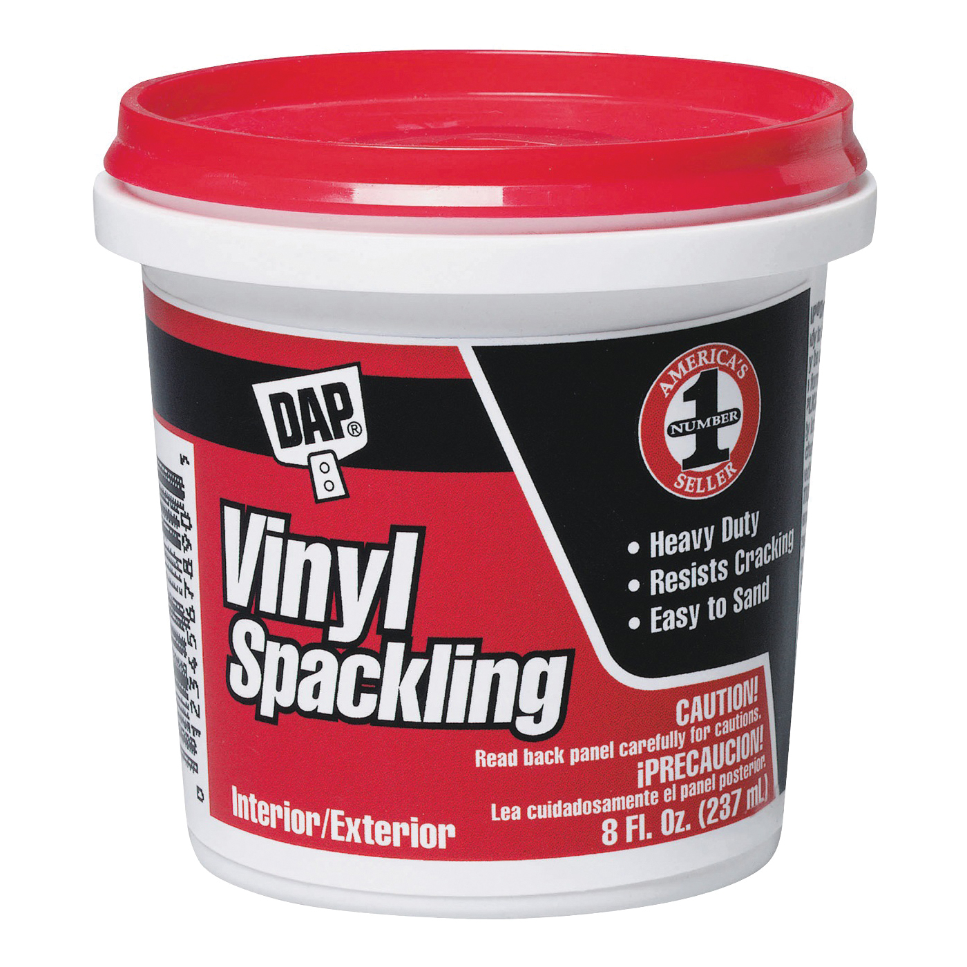 Picture of DAP 12130 Spackling Paste White, White, 0.5 pt, Tub