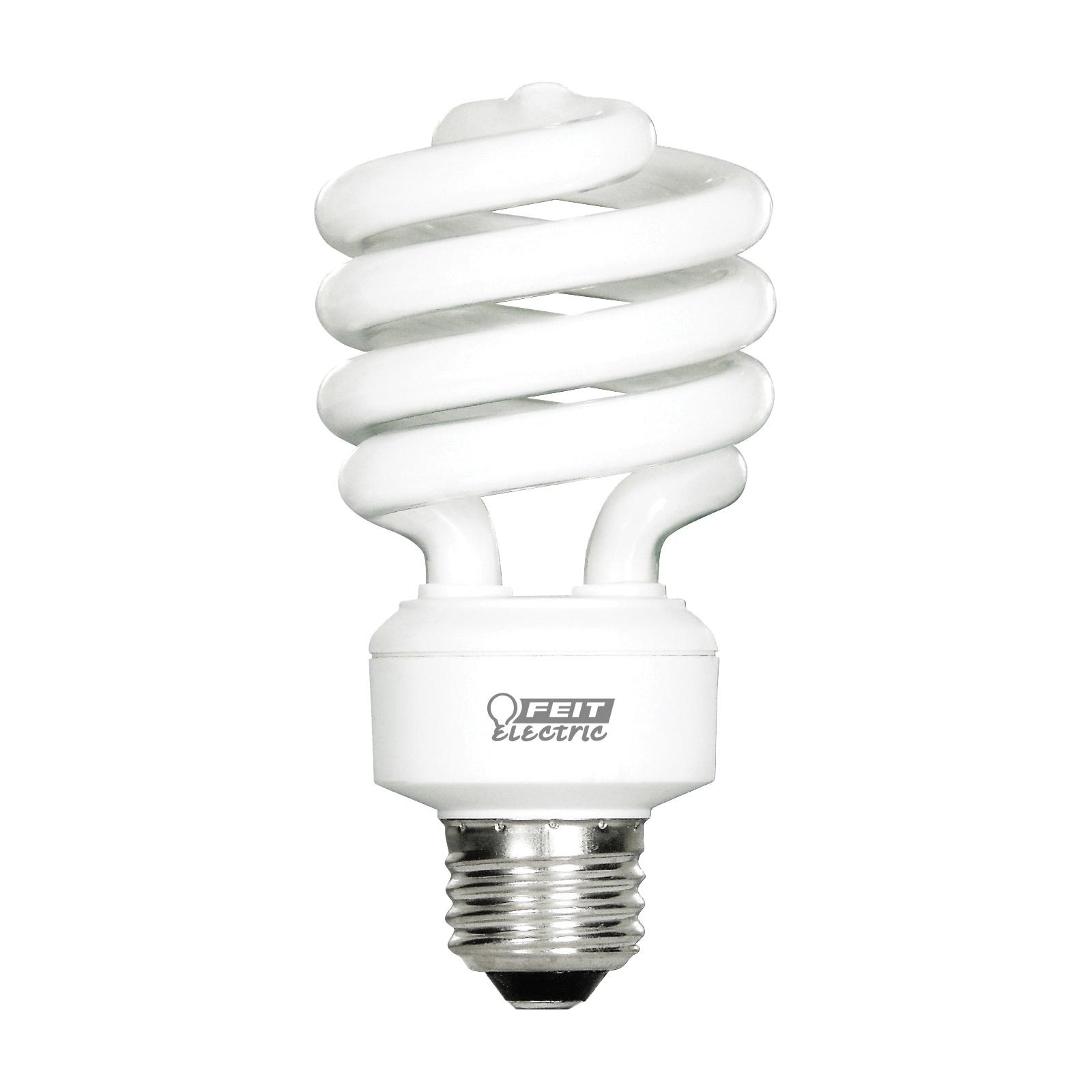 Picture of Feit Electric ESL23TM/D/4 Compact Fluorescent Bulb, 23 W, Spiral Lamp, Medium E26 Lamp Base, 1600 Lumens