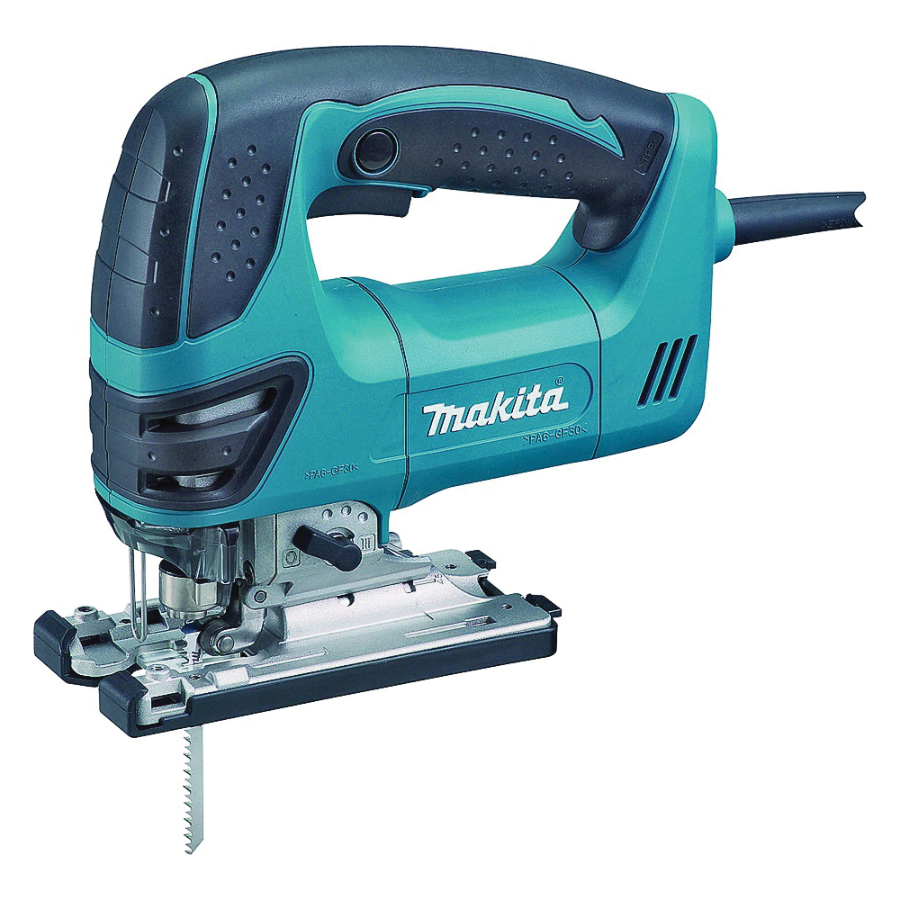 Picture of Makita 4350FCT Jig Saw with LED Light, 120 V, 6.3 A, 25/32 in Aluminum, 3/8 in Steel, 5-5/16 in Wood Cutting Capacity