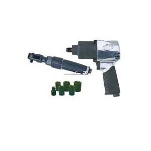 Picture of Ingersoll Rand Edge Series 2317G Air Impact Wrench Kit, 1/2, 3/8 in Drive, 55 (170G), 500 (231G) ft-lb