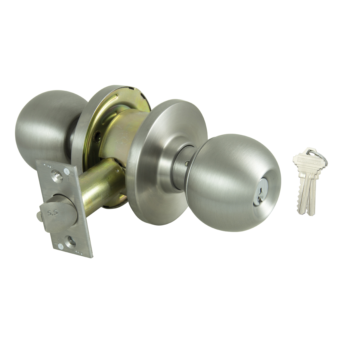 Picture of ProSource C368BV-PS Knob Set, 2 Grade, Metal, 2-3/8 x 2-3/4 in Backset, Keyed Different Keyway