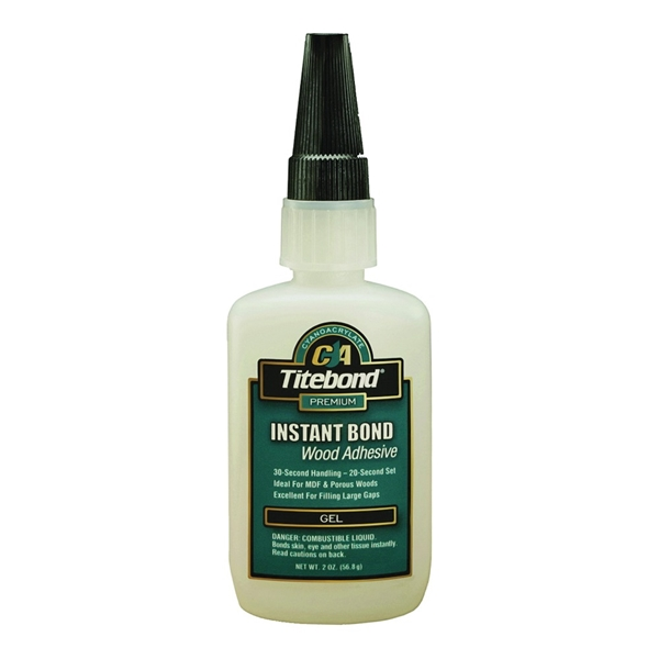 Picture of Titebond 6231 Wood Glue, Clear, 2 oz Package, Bottle