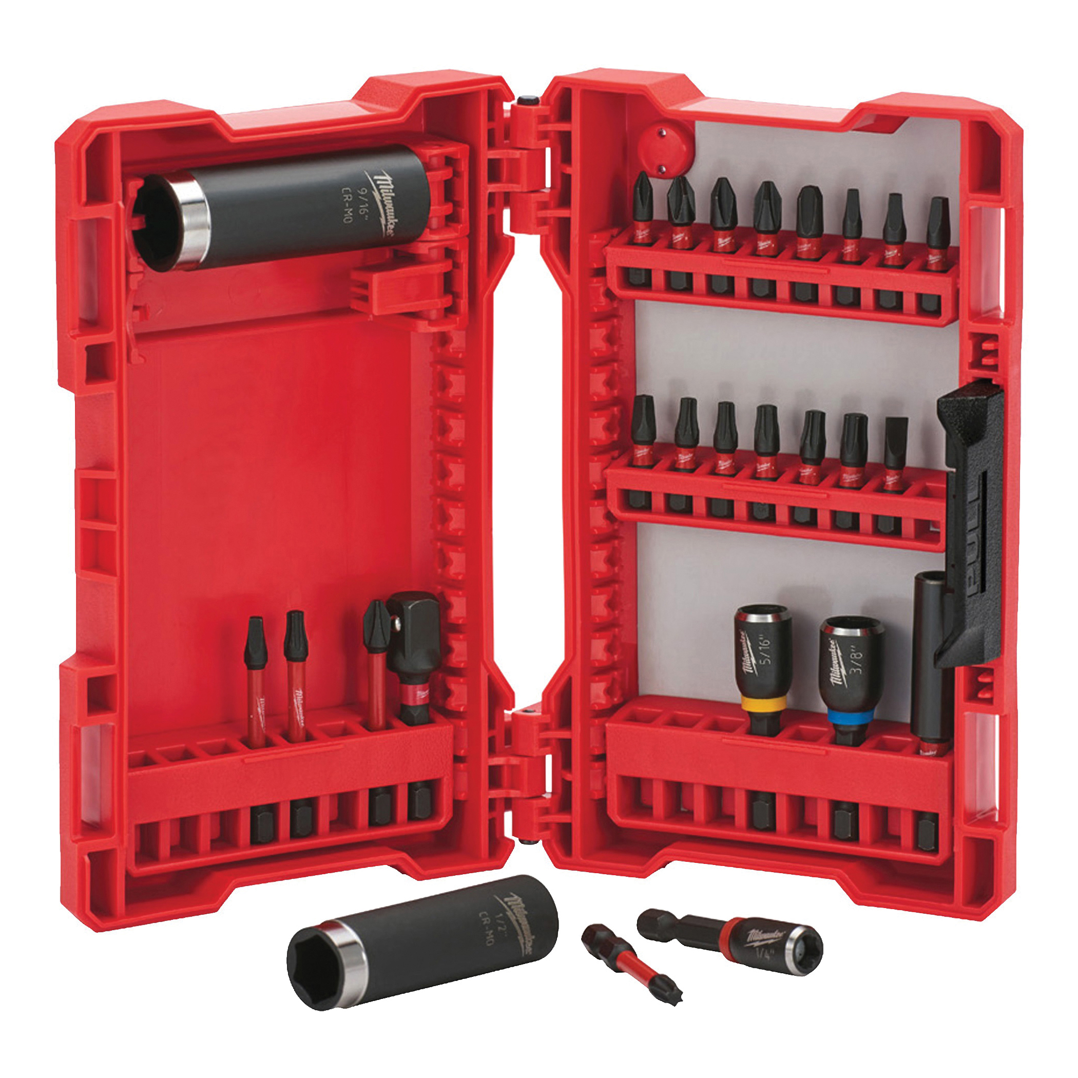 Picture of Milwaukee SHOCKWAVE Impact Duty 48-32-4408 Drive and Fasten Set, 26 -Piece, Steel