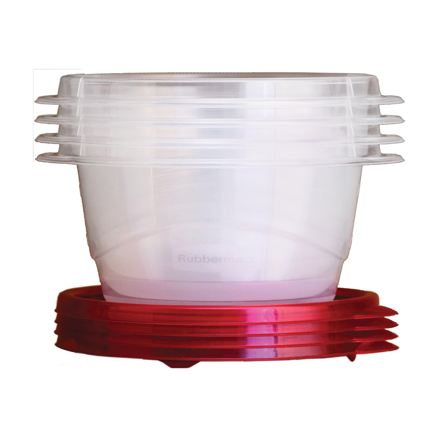 Picture of Rubbermaid Take Alongs 7F52RETCHIL Food Storage Container Set, 3.2 Cups Capacity, Clear, 6 in L, 7 in W, 5 in H