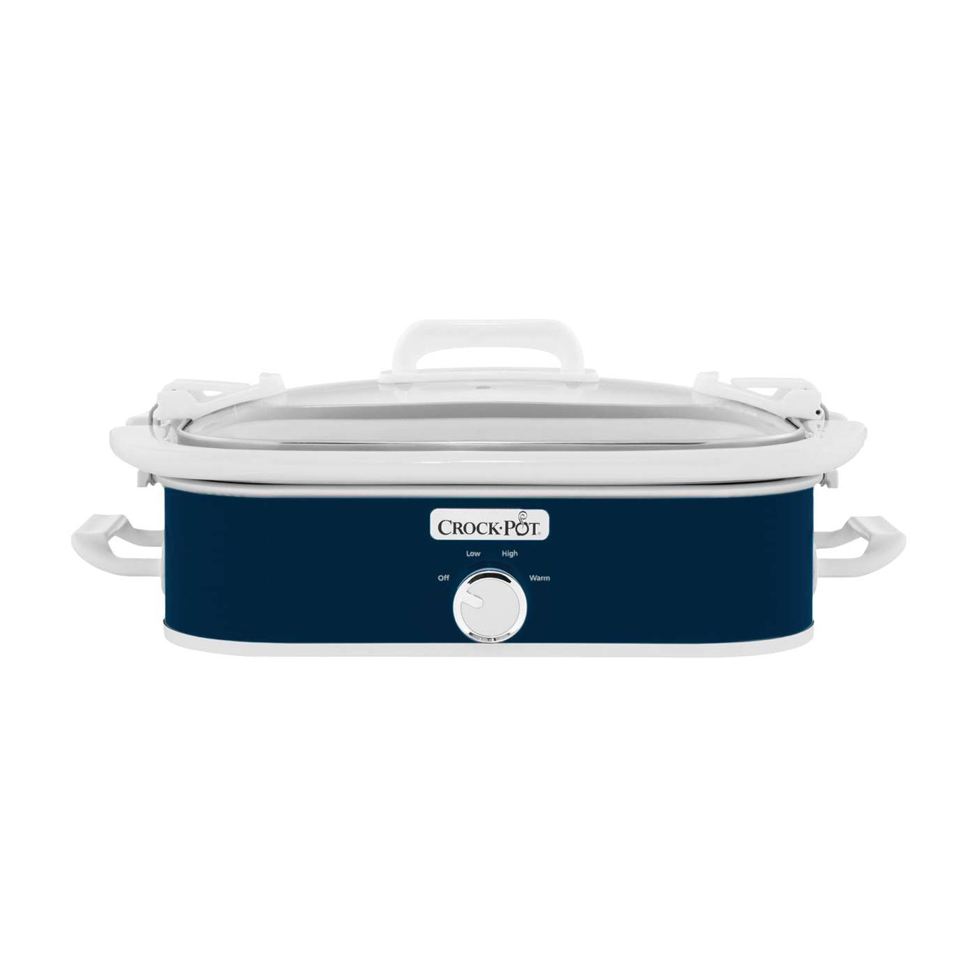 Picture of Crock-Pot Casserole Crock SCCPCCM350-BL Slow Cooker, 3.5 qt Capacity, Manual Control, Midnight Blue