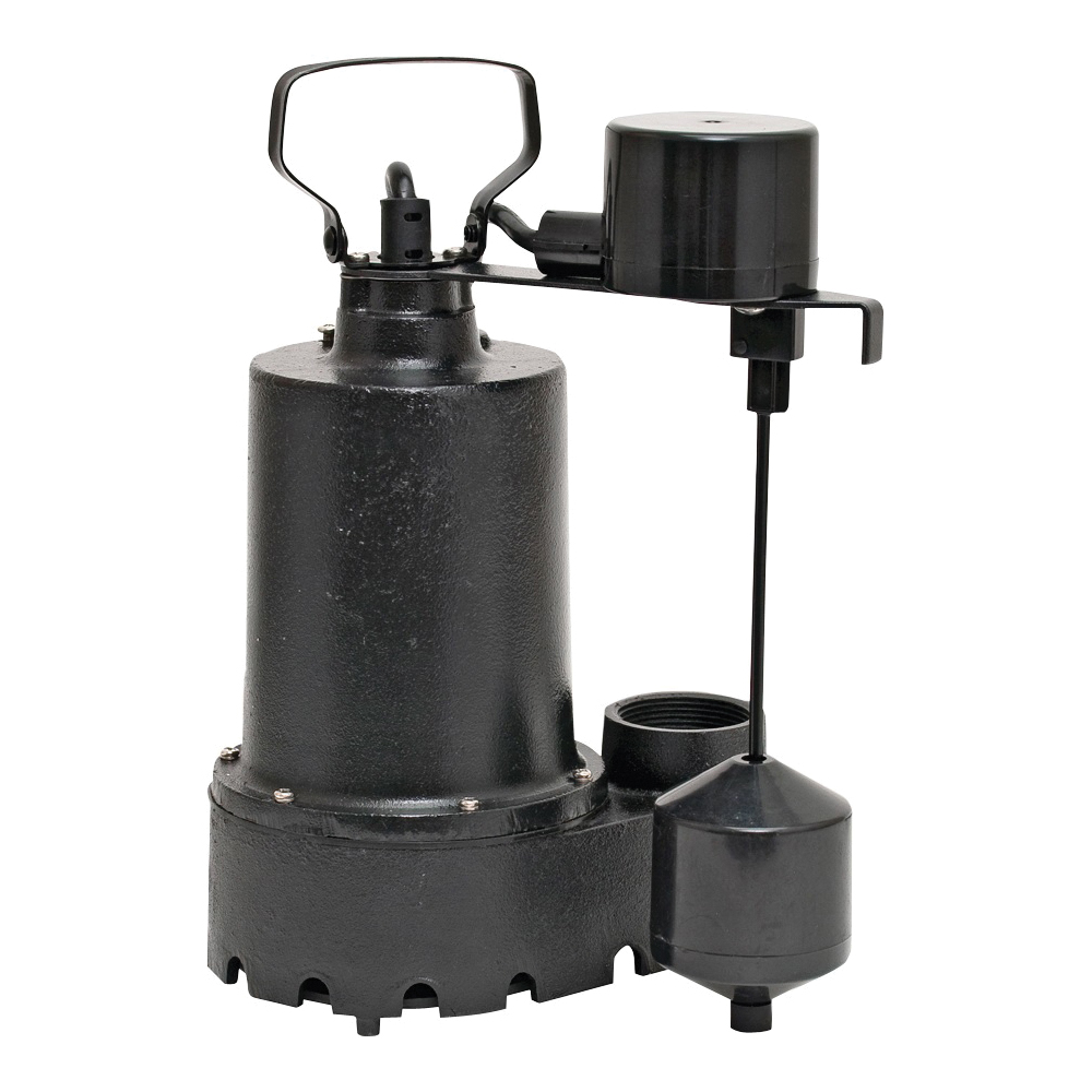Picture of SUPERIOR PUMP 92341 Sump Pump, 4.1 A, 120 V, 0.33 hp, 1-1/2 in Outlet, 46 gpm, Iron