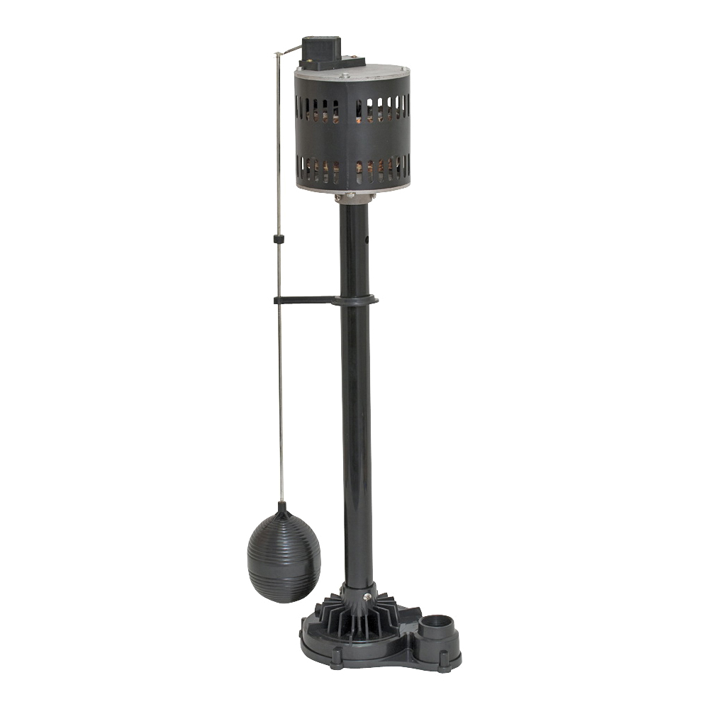 Picture of SUPERIOR PUMP 92333 Sump Pump, 1-Phase, 2.76 A, 120 V, 0.33 hp, 1-1/4 in Outlet, 50 gpm, Thermoplastic