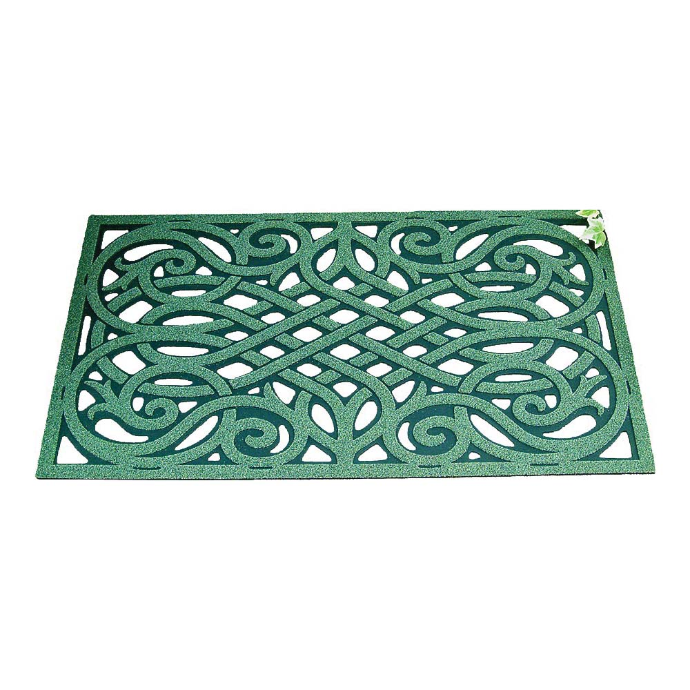 Picture of Simple Spaces 06ABSHE-15-3L Door Mat, 30 in L, 18 in W, Flock Dye Cut Pattern, Fiber Surface