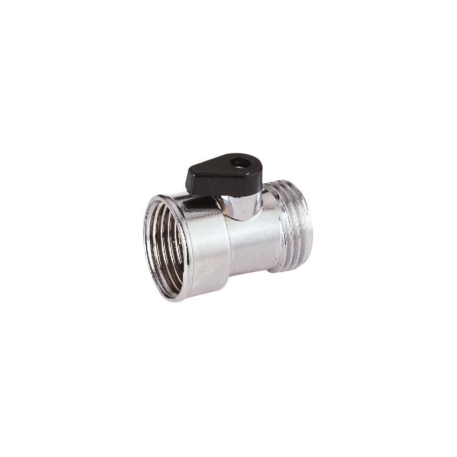 Picture of Landscapers Select GC5043L Hose Shut-Off Valve, 3/4 in, Female, 1 -Port/Way, Zinc Body, Silver, Chrome