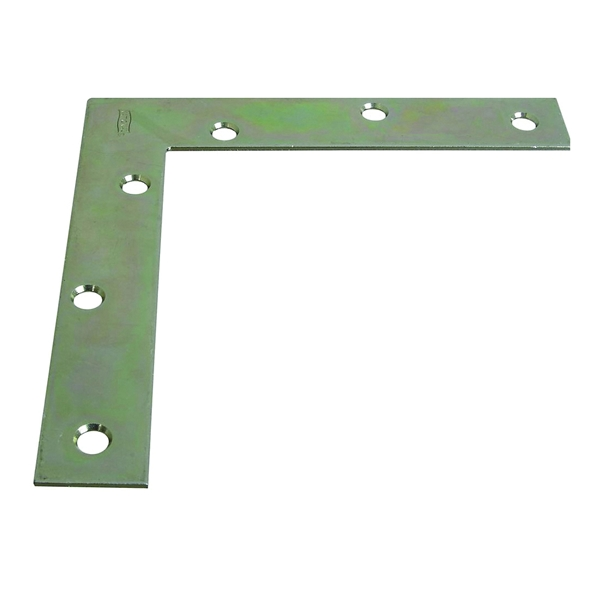 Picture of National Hardware SP117BC Series N204-990 Corner Brace, 6 in L, 1 in W, Steel, Zinc, 0.08 Thick Material
