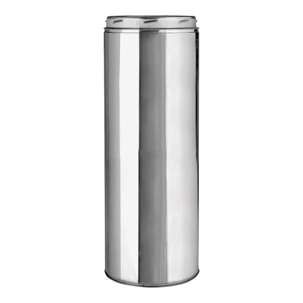 Picture of SELKIRK 206012 Chimney Pipe, 8 in OD, 12 in L, Stainless Steel