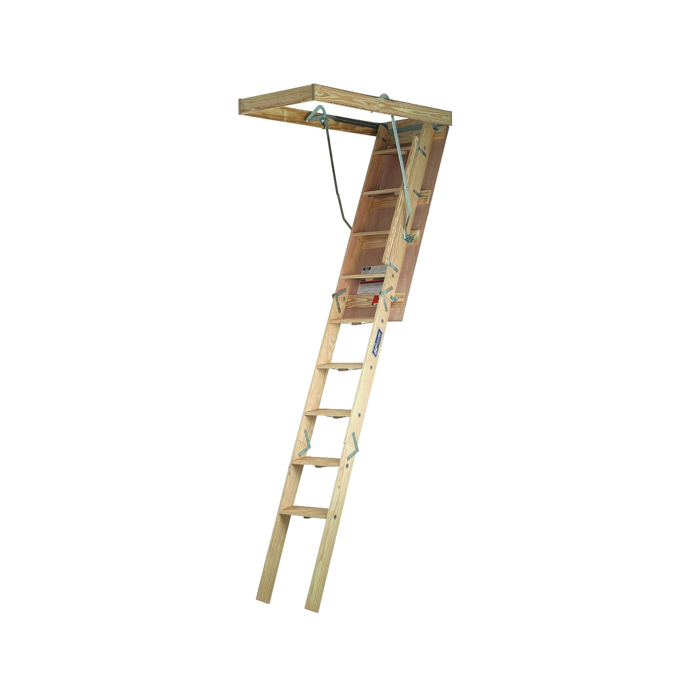 Picture of Louisville Champion Series CL224P Attic Ladder, 8 ft 9 in to 10 ft H Ceiling, 22-1/2 x 54 in Ceiling Opening, 300 lb