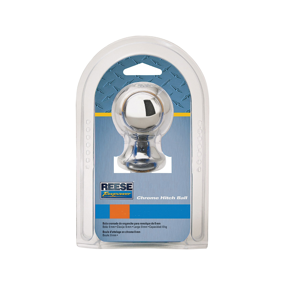Picture of REESE TOWPOWER 7401036 Hitch Ball, 2 in Dia Ball, 1 in Dia Shank, 6000 lb Gross Towing, Steel