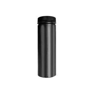 Picture of SELKIRK DSP8P12-1 Stove Pipe, 8 in ID x 8-1/2 in OD Dia, 12 in L, Aluminized Steel/Stainless Steel, Black