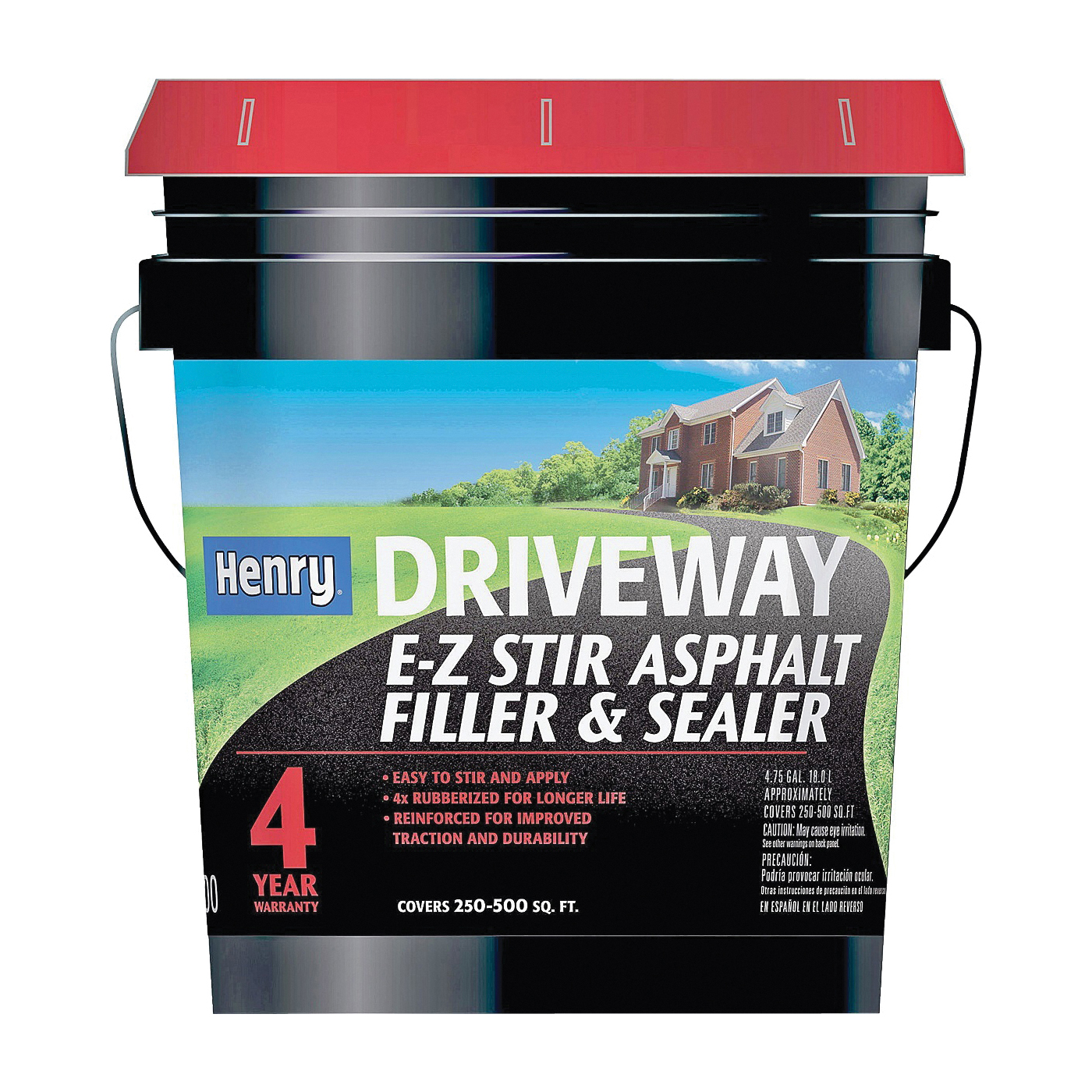 Picture of Henry HE200411 Asphalt Filler and Sealer, Liquid, Black, 5 gal Package, Pail
