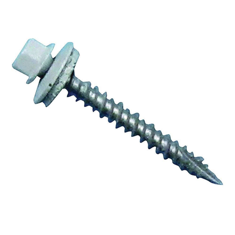 Picture of Acorn International SW-MW15W250 Screw, #9 Thread, High-Low, Twin Lead Thread, Hexagonal Head, Type 17 Point, Steel