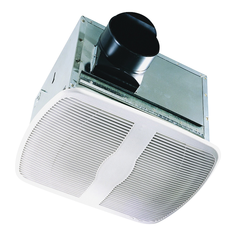 Picture of Air King AK80 Exhaust Fan, 9-3/8 in L, 10-7/8 in W, 0.3 A, 120 V, 80 cfm Air, Metal