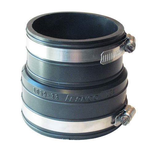 Picture of FERNCO P1059-33 Flexible Pipe Coupling, 3 in, Socket, PVC, Black, 4.3 psi Pressure
