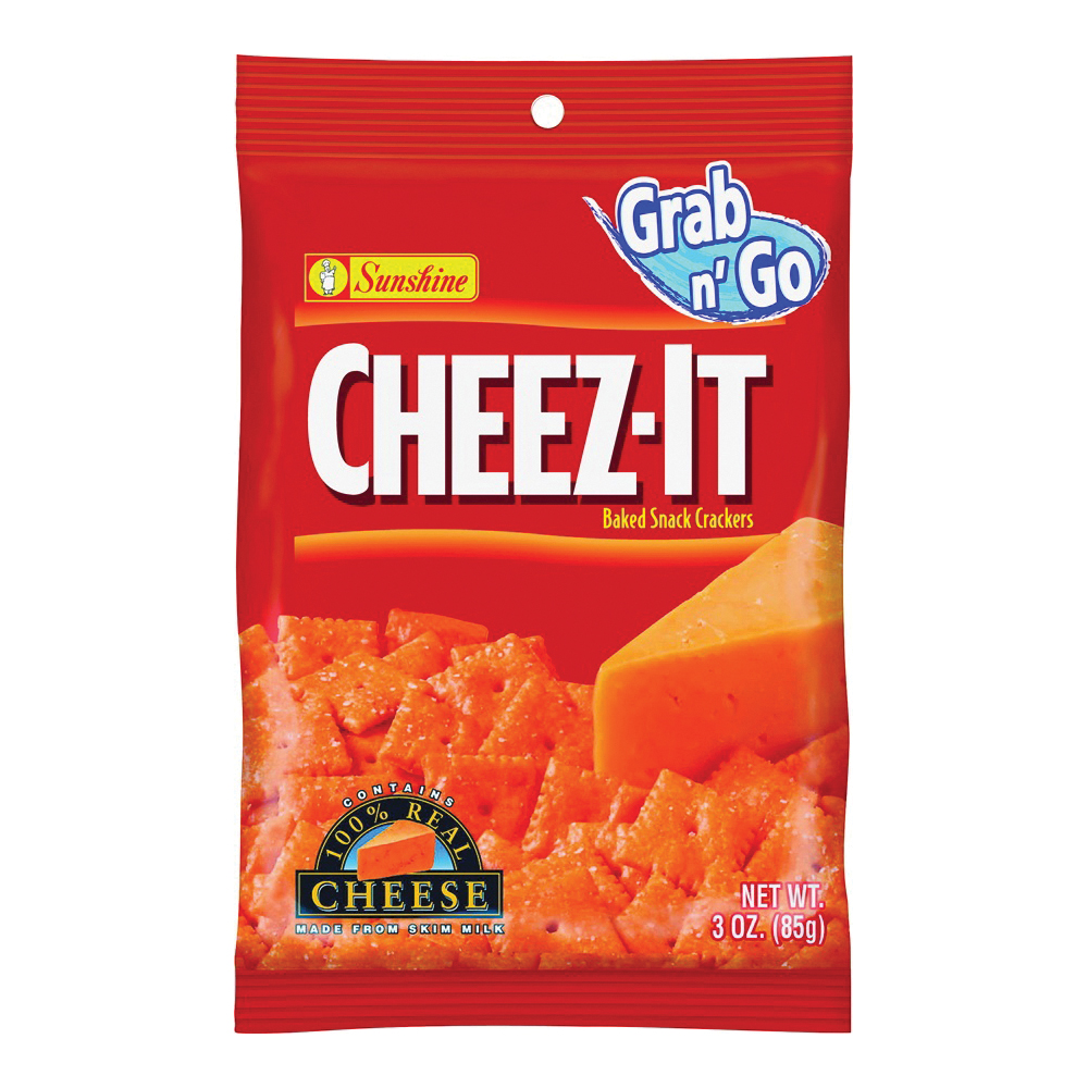 Picture of CHEEZ-IT CHEEZIT36 Original Baked Snack Crackers, Cheese Flavor, 3 oz Package, Bag