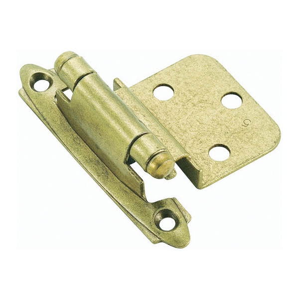 Picture of Amerock BPR3428BB Cabinet Hinge, 3/8 in Inset, Burnished Brass