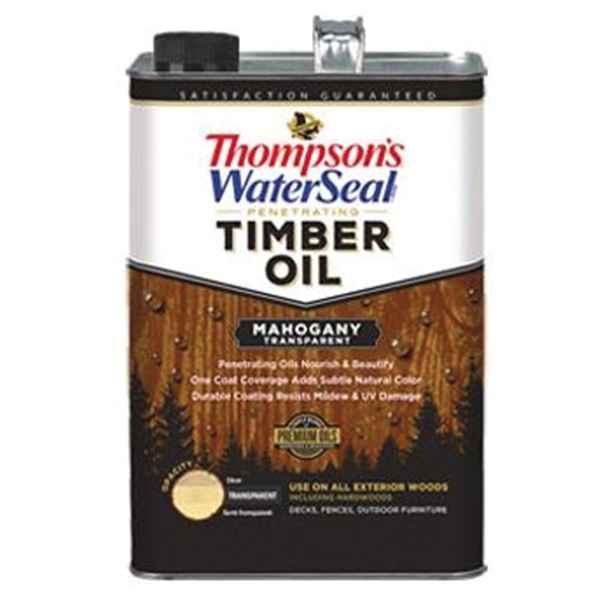 Picture of Thompson's WaterSeal TH.049851-16 Penetrating Timber Oil, Mahogany, Liquid, 1 gal, Can