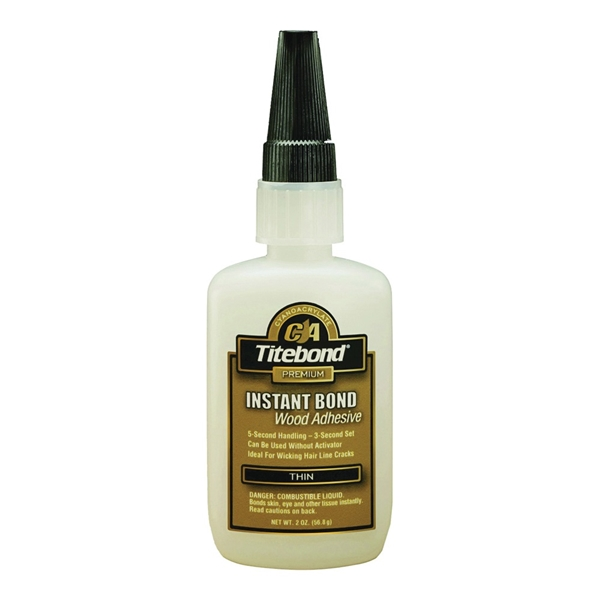 Picture of Titebond 6201 Wood Glue, Clear, 2 oz Package, Bottle
